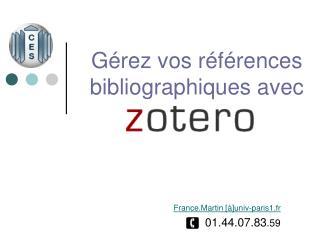 Gérez vos références bibliographiques avec