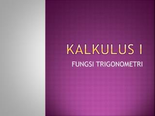 KALKULUS I