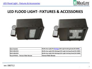 LED Flood Light- Fixtures & Accessories