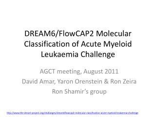 DREAM6/FlowCAP2 Molecular Classification of Acute Myeloid  Leukaemia  Challenge