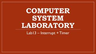 Computer System Laboratory