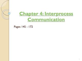 Chapter  4:  Interprocess  Communication ‏