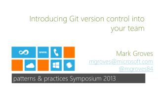 Introducing Git version control into your team
