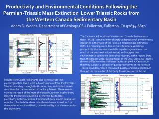 Adam D. Woods  Department of Geology, CSU Fullerton, Fullerton, CA 92834-6850