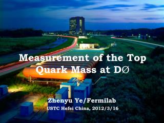 Measurement of the Top Quark  Mass  at D Ø
