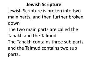 Jewish Scripture