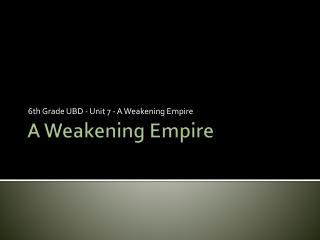A Weakening Empire