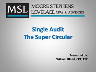 Single Audit  The Super Circular