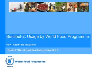 Sentinel-2: Usage by World Food  Programme WFP – World Food  Programme