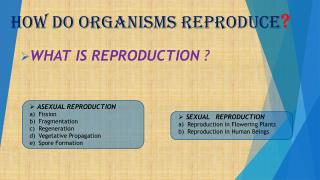 How do organisms reproduce ?