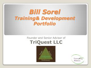 Bill Sorel Training& Development Portfolio