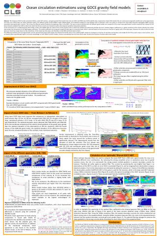 Ocean circulation estimations using GOCE gravity field models