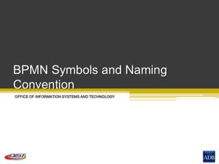BPMN Symbols and Naming Convention