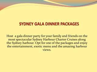 Sydney Gala Dinner Packages