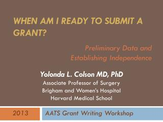 When am I Ready to Submit a Grant?