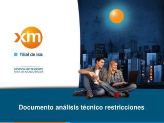 Documento análisis técnico restricciones