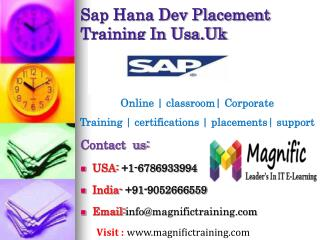 Sap Hana Dev Placement Training In Usa,Uk