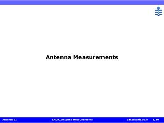 Antenna Measurements