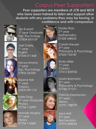 Corpus Peer Supporters!