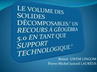 Benoit  GWEM LINGOM