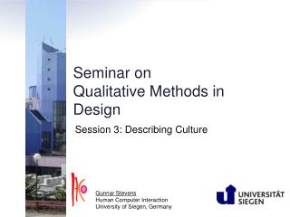 Seminar on Qualitative Methods in Design