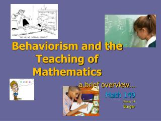 Behaviorism and the Teaching of Mathematics