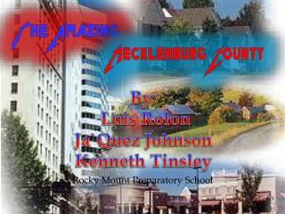 By:  Luis Rolon Ja`Quez Johnson Kenneth Tinsley