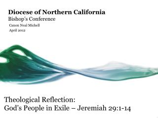 Diocese of Northern California Bishop's Conference