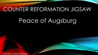 Counter reformation jigsaw