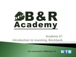 Academy 01 Introduction to investing,  Binckbank
