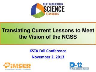 KSTA Fall Conference November 2, 2013