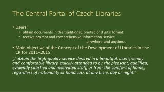 The Central Portal of Czech  Libraries