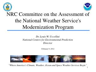NRC Committee on the Assessment of the National Weather Service's Modernization Program