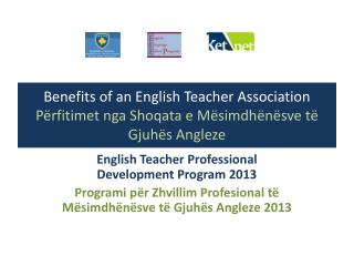 English Teacher Professional Development Program 2013