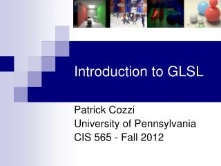Introduction to GLSL
