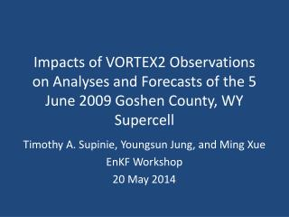 Timothy A. Supinie,  Youngsun  Jung, and Ming  Xue EnKF  Workshop 20 May 2014