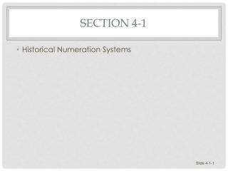 Section 4-1