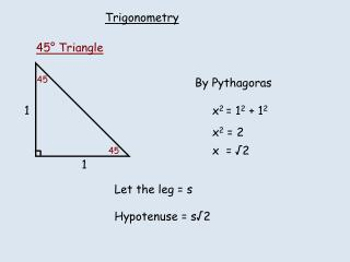 By Pythagoras