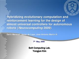 Soft Computing Lab. Yongjun  Kim