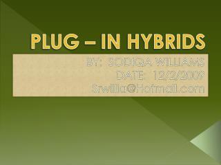 PLUG � IN HYBRIDS