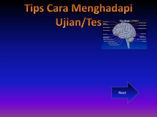 Tips Cara Menghadapi Ujian/Tes