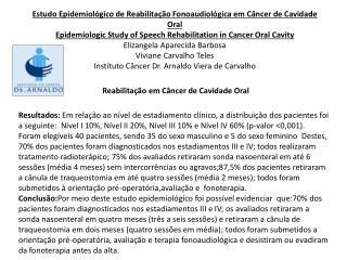 Reabilitação em Câncer de Cavidade Oral