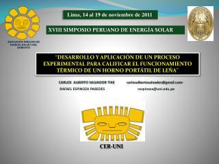 XVIII SIMPOSIO PERUANO DE ENERGÍA SOLAR