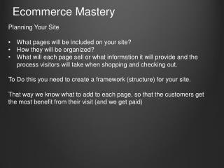 Ecommerce Mastery