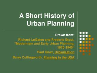 A Microscopic History of Planning