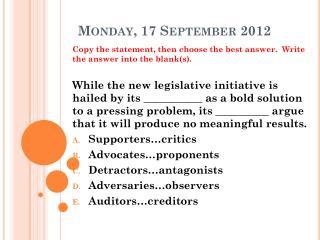 Monday, 17 September 2012