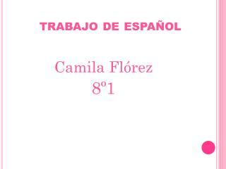 trabajo de español