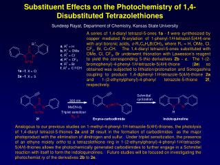Substituent Effects on the Photochemistry of 1,4-Disubstituted  Tetrazolethiones