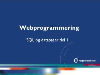Webprogrammering