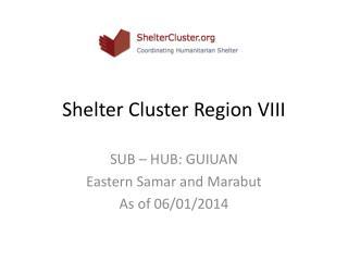 Shelter Cluster Region VIII